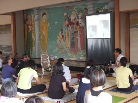 木村慧心先生のヨーガ療法についての講義