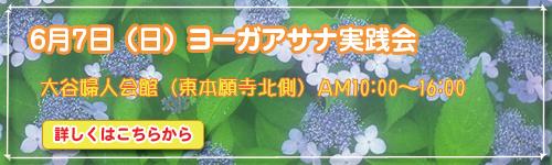 6月7日(日)ヨーガアサナ実践会